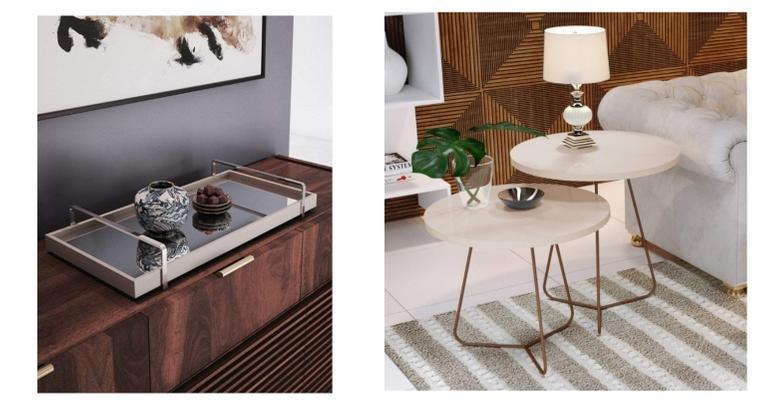 Vaso, balcão e aparador super glamourosos e perfeitos para uma casa estilosa