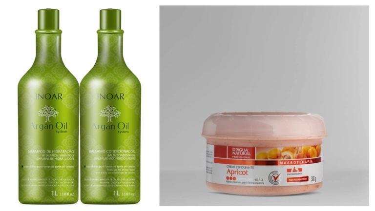 Esponja, creme esfoliante e hidratante perfeitos para cuidar da pele e do cabelo