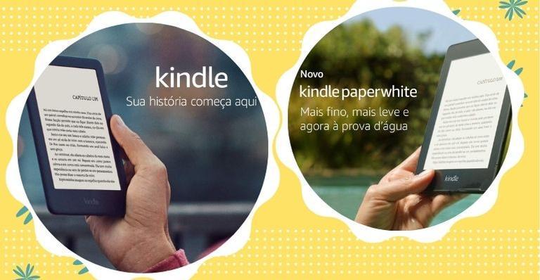 Escolha entre os três modelos do Kindle para leituras super práticas