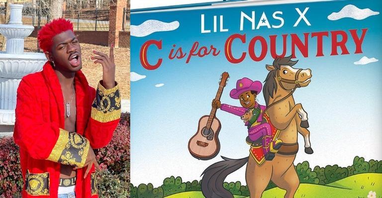 """lil-nas-x-lanca-livro-ilustrado-para-criancas;-conheca-""""c-is-for-country"""""""