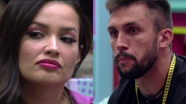 Juliette e Arthur em clima tenso após briga no BBB21.