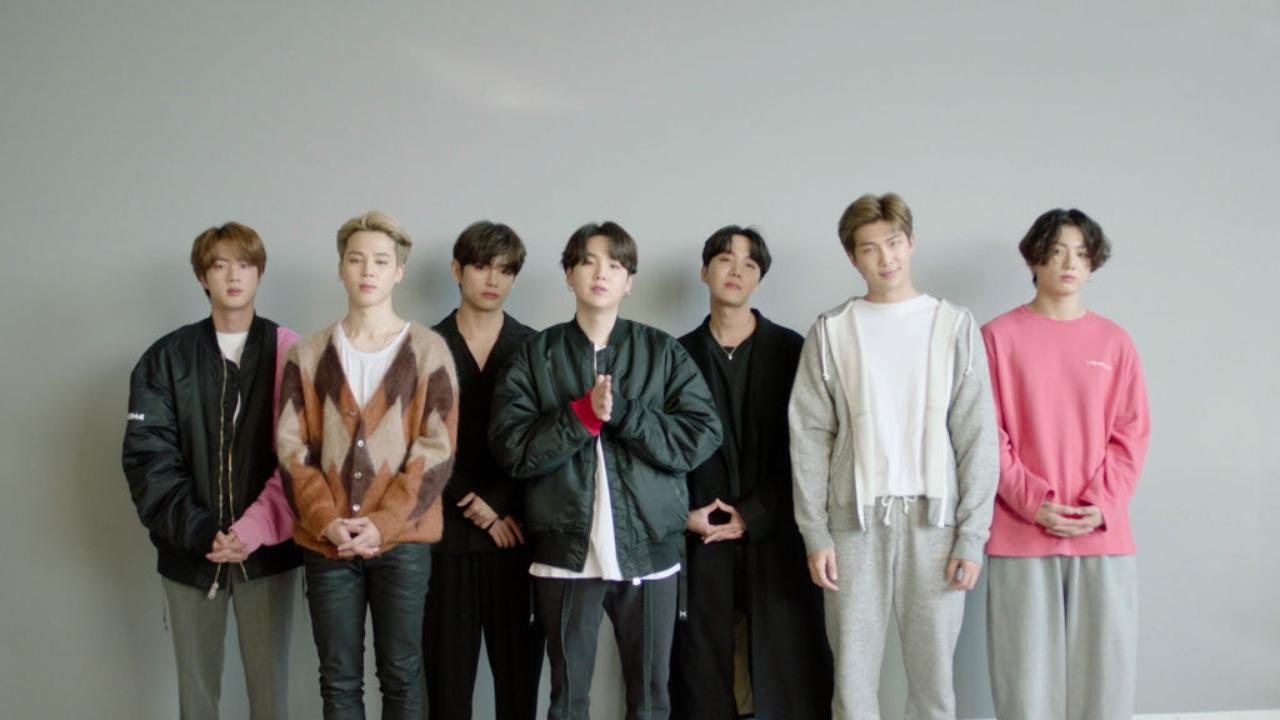 BTS durante cerimônia do MTV Ema 2020