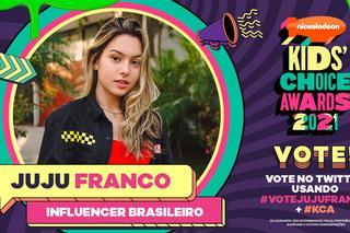 """Juju Franco comemora indicação a """"Influencer Brasileira"""" do ano no Kids' Choice Awards 2021 da Nickelodeon"""