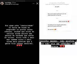 Maria Lina desabafa após sofrer ataques de haters na web