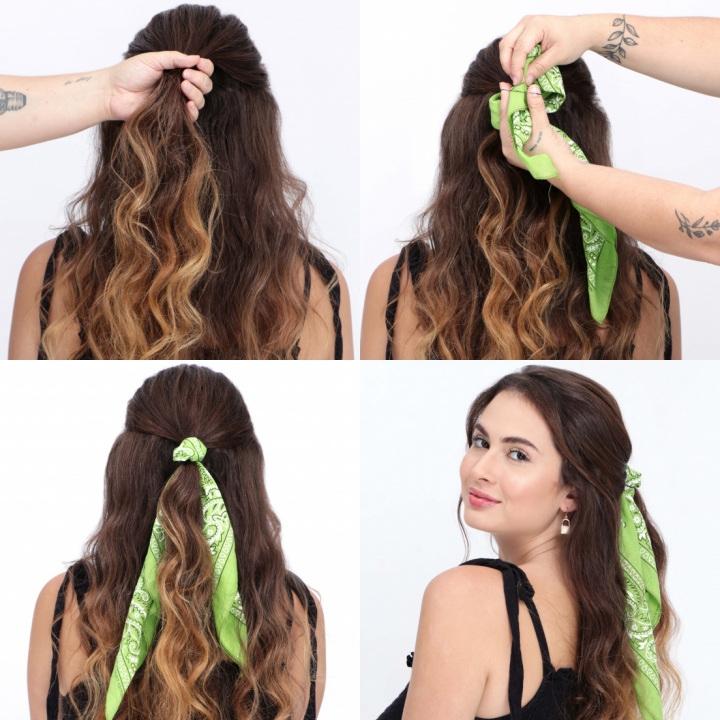 penteado bandana