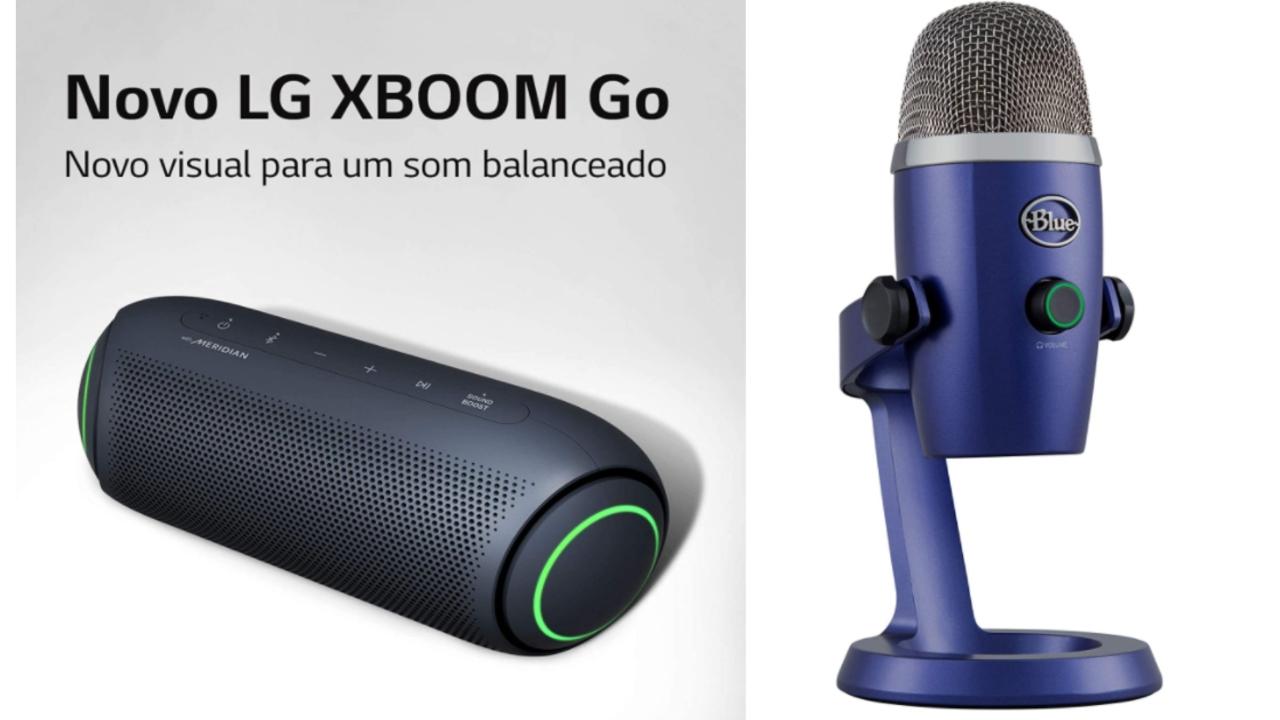 Monitor gamer, fone bluetooth, microfone e outros itens que vão garantir maior produtividade