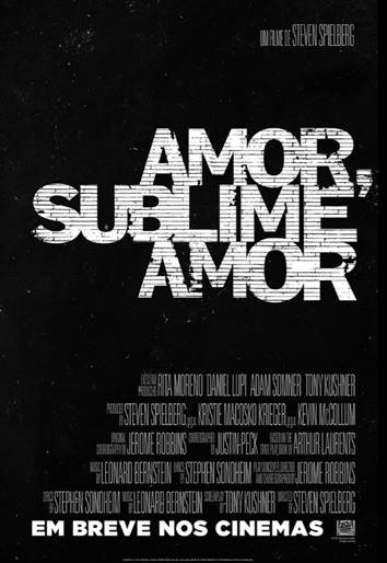 """Pôster de """"Amor, Sublime Amor"""", que ganhou o primeiro trailer"""