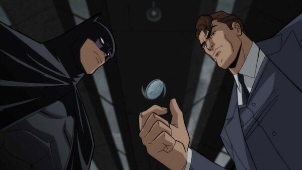 """Cena do novo filme, """"Batman: O Longo Dia das Bruxas""""."""
