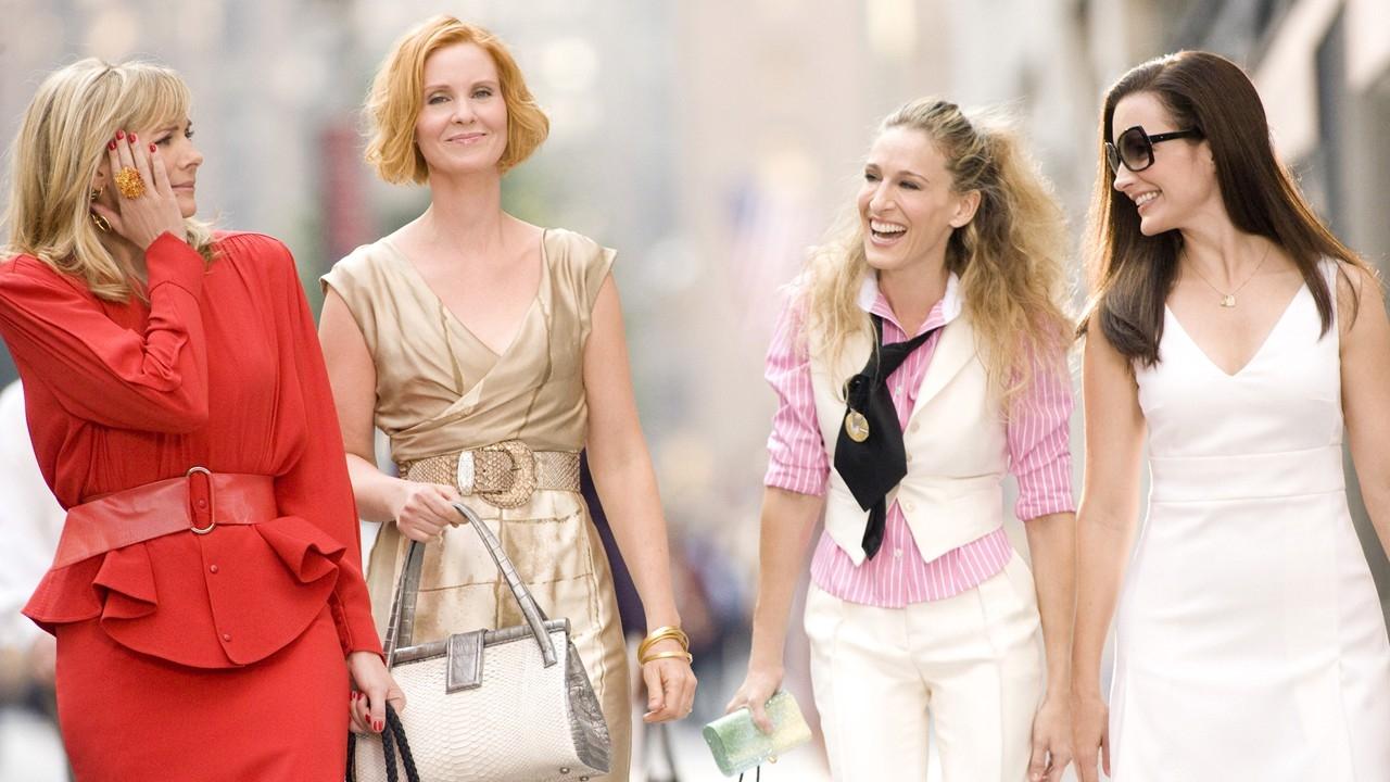 """Cena com as quatro protagonistas de """"Sex and the City""""."""
