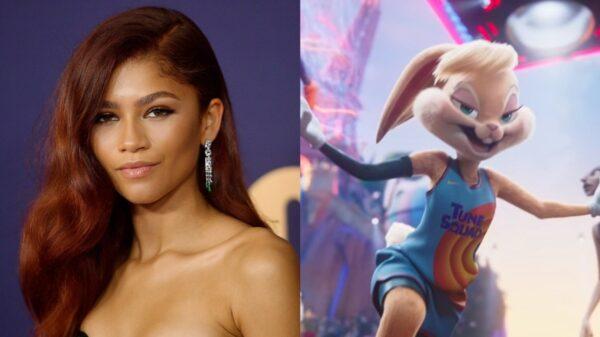 """Zendaya ao lado da personagem Lola Bunny, de """"Space Jam 2""""."""