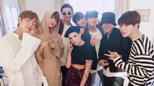 Interações icônicas entre grupos de k-pop e outras celebridades