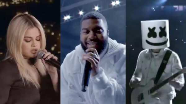 Selena Gomez, Khalid e Marshmello arrasam em performance na final da Champions League