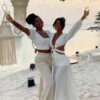 Ludmilla e Brunna Gonçalves renovam votos de casamento no Caribe