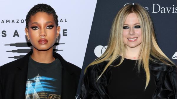 Willow Smith e Avril Lavigne são flagradas em set de gravações
