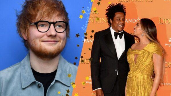 Ed Sheeran revela que segundo encontro com a esposa foi em jantar com Beyoncé e Jay-Z