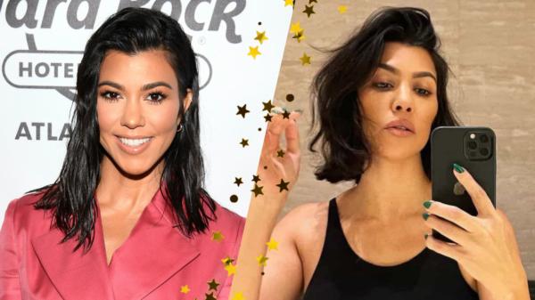 Kourtney Kardashian radicaliza no visual e aparece de cabelo curto