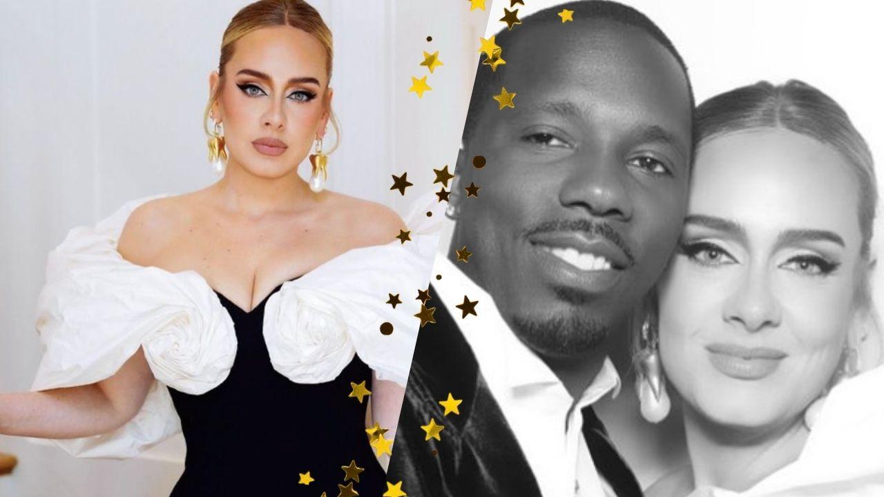 Pela primeira vez, Adele posta foto ao lado do namorado