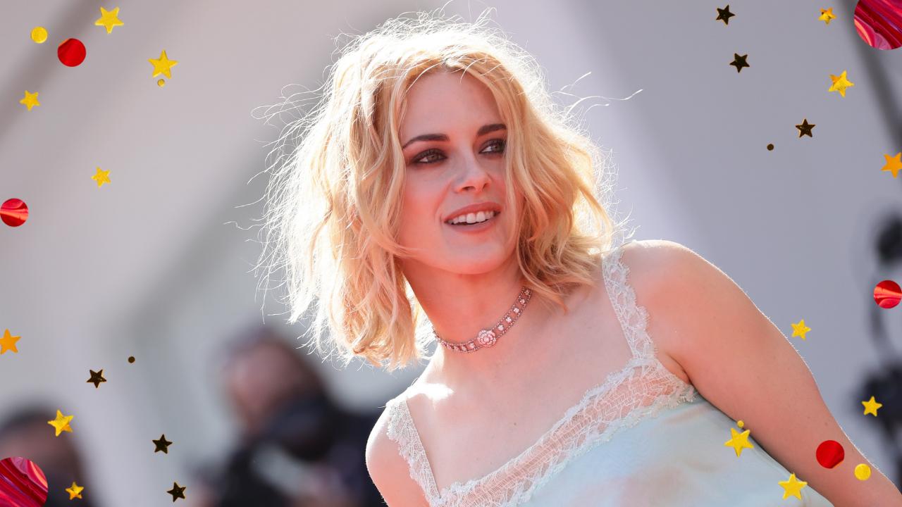 Kristen Stewart desfila com novo visual no Festival de Veneza