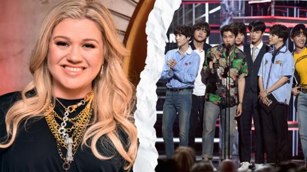 Programa de Kelly Clarkson erra foto ao mencionar BTS